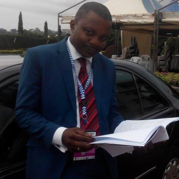 """Le journaliste François Mboke,Directeur du groupe de presse """"Diapason"""" et Président du Réseau des Patrons de Presse du Cameroun"""