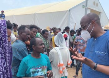 @RaoufMazou and Regional Director @CNkwetaSalami visited Tunaydbah camp, home to nearly 20,000 #refugees from Tigray, Ethiopia.